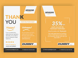 Amazon Fba Packaging Design Amazon Thank You Card Product Insert Package Insert By