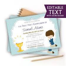 celebration invite editable first communion invitation printable boys celebration invite blue boy event invite com1 e049