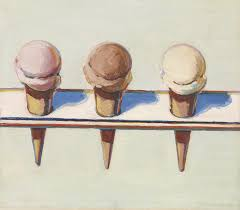 the early 60s saw the birth of thiebaud s signature dessert pieces such as this