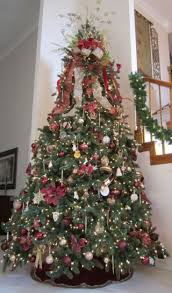 Silver and Burgundy Music-Themed Tree