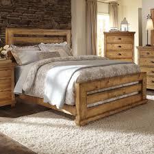 Progressive Bedroom Furniture Progressive Furniture Willow King Slat Bed With Distressed Pine