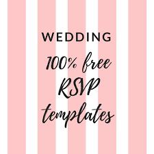 Printable Free Wedding Rsvp Template Cards Microsoft Word