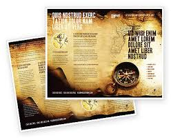 Old Brochures Old Map Brochure Template Design And Layout Download Now 05132