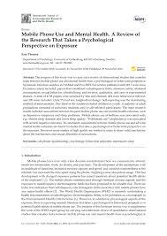 Pdf Mobile Phone Use And Mental Health A Review Of The