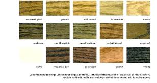Interior Wood Stain Color Chart Stain Colors Home Depot Rjowtkk Info