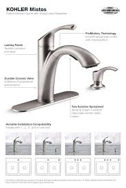 mistos pull out kitchen faucet in stainless steel
