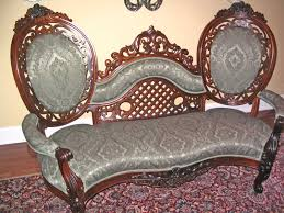 Victorian Sofa Corner Tables and Settee For Sale