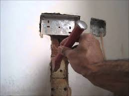 double socket into a solid brick wall