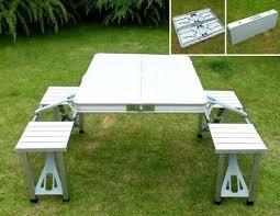 aluminum picnic tables. Aluminium Portable Folding Picnic Table \u0026 Chairs Set With Umbrella Within Aluminum Benefits Of Tables