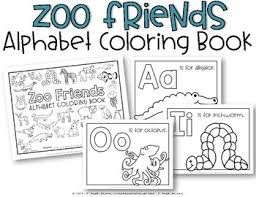zoo friends coloring book