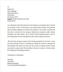 Sample Retail Marketing Cover Letter Template