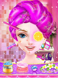 pink princess makeup salon spa makeover s games