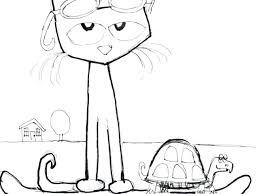 Awesome Pete The Cat Coloring Page And The Cat Coloring Page With