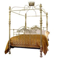 Four Poster Bed All Brass Crown And Canopy Four Poster Bed Mkb8 At 1stdibs