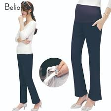 maternity work clothing promotion shop for promotional maternity 2017 new high waist maternity pants for work plus size flare trousers pregnancy clothes for pregnant women ropa premama clothing