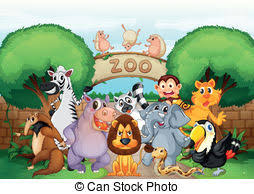 zoo clipart. Simple Clipart Zoo And Animals  Illustration Of In A Inside Zoo Clipart O