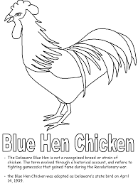 Small Picture Blue Hen Chicken coloring page