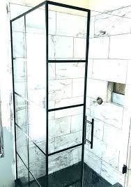 black shower frame bathroom black framed glass shower doors