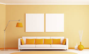 Simple Interior Design Interior White And Yellow Color Combination Living Room Wall