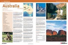 Sample Of Restaurant Brochures In Best Of Australia By Qantas Vacations