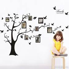 fast large photo frame family tree wall art decal sticker kid s room home decor on wall art decals family tree with fast large photo frame family tree wall art decal sticker kid s room