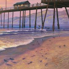 footprints in the sand limited edition art