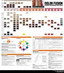 Redken Color Fusion Chart Redken Hair Color Redken Color