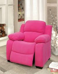 pink fabric kids recliner chair kidschair reclinerchair kidsrecliner