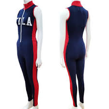 fila unitard jumpsuit with front logo. image is loading new-fila-roseann-unitard-jumpsuit-with-front-zip- fila unitard jumpsuit with front logo