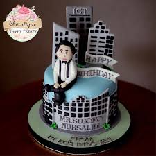 Businessman Themed Birthday Cake For Mr Sujono Chocolique