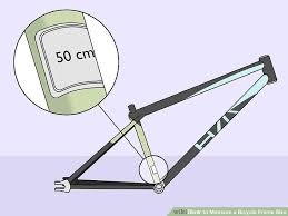 3 Ways To Measure A Bicycle Frame Size Wikihow
