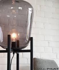 Vloerlamp Bink Met Glazen Bol Op Zwart Frame Woonwinkel Alle Pilat