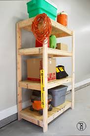 and easy diy garage shelves