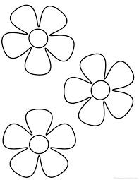 Flower Clipart Coloring Pages Printable Educations For Kids
