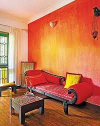 Small Picture Gorgeous decorative red paint wall finish for Indian interior