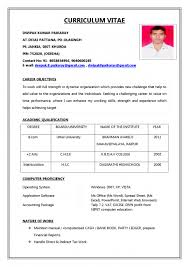 Resume Examples Making A Resume Format Cv Models Pdf Templates