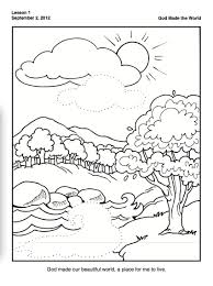 Creation Coloring Pages With For Preschoolers Creation Creation