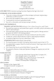 Sample Resume Secondary English Teacher high school