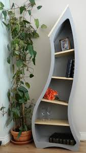 View in gallery bookshelves curved blue