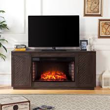 torrens 65 in electric fireplace tv stand with 33 in widescreen firebox in white limed espresso