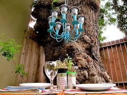 solar chandelier day picnic