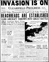 this is a picture of a newspaper page an article on d day  an article on d day