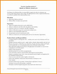 Medical Office Assistant Job Description For Resume 100 medical assistant duties for resume new hope stream wood 21