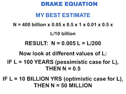 30 drake equation my best estimate
