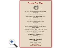 Tapped Beer Menu - Kensington Pub