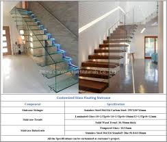indoor frameless glass railing steel glass floating staircase cost