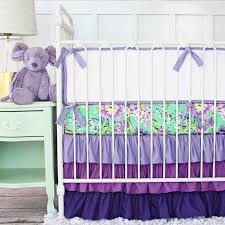 image of purple crib bedding set ideas