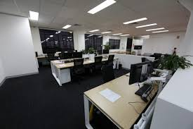 tidy furniture arrangements of office layout ideas applied on the black floor it also has white lamp ceiling brings elegant touch inside office arrangements f31 office