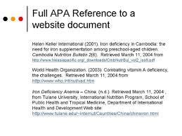 apa website citation format references web site under fontanacountryinn com