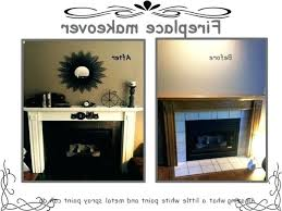 high heat paint fireplace makeover heat resistant spray paint to take care of the ugly tile high heat paint